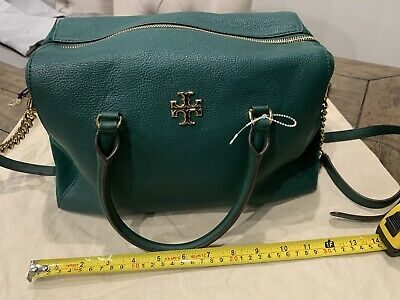 $56 • Buy Tory Burch Green Leather And Suede Handbag With Dustbag