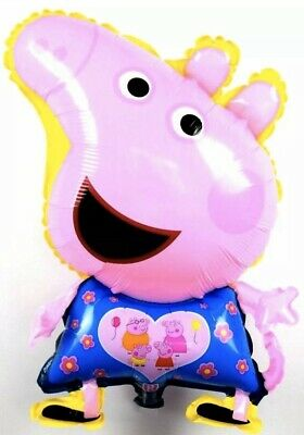 Shaped Pink Pig 70cm Foil Helium Balloon Character George • 2.99£