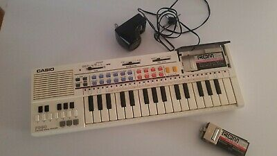 $44.99 • Buy Vintage Casio PT-80 Electronic Keyboard W ROM Pack RO-551 X2 & RO-356 X1