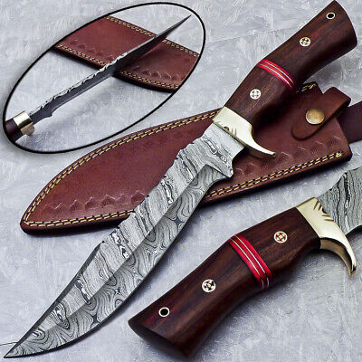 $25.01 • Buy Authentic HANDMADE DAMASCUS 15  HUNTING KNIFE WITH NATURAL WOOD HANDLE - ST-5078