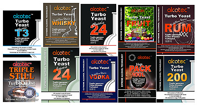 ALCOTEC - Turbo Yeast - All Variety - Home Brew - EXTREME Alcohol Technology • 3.89£