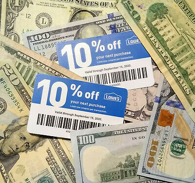 $10.59 • Buy $ave 20x LOWES Coupons 10% OFF @ Competitors ONLY-Home Depot Exp 11-15 Plz Read