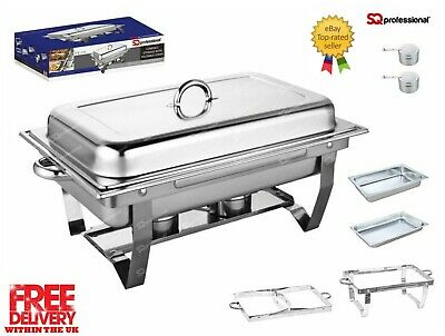 £181 • Buy Set Of 6, Single Compartment 9.5L Chafing/Buffet/Party Dishes Or Food Warmer