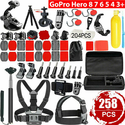 AU31.99 • Buy For GoPro Hero 258pcs 9 8 7 6 5 4 3 Accessories Pack Case Chest Head Floating AU