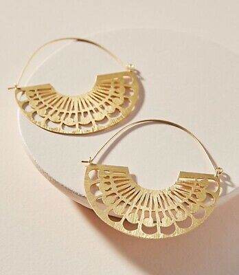 $ CDN59.16 • Buy NEW Anthropologie Lucy Hoop Earrings / Sold Out / With Jewelry Bag