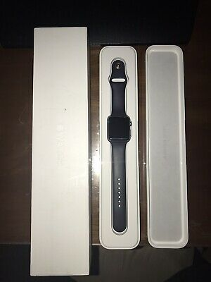 $ CDN130.43 • Buy USED Apple Watch 42mm Space Gray Aluminum Case Navy Blue Sport Band