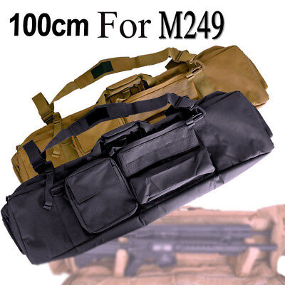 $53.83 • Buy Tactical Luggage Military Photo Fishing Double Deck Gun Bag Pouch For M249