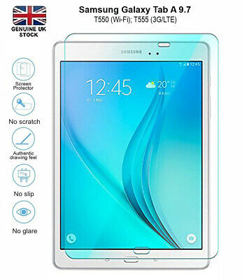 £3.69 • Buy  Genuine Tempered Glass Screen Protector For Samsung Galaxy Tab A 9.7  SM-T550