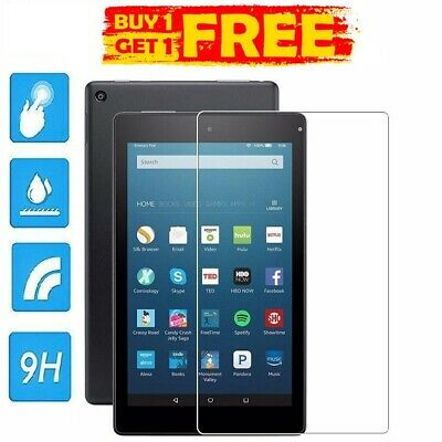 £4.49 • Buy 2 X Tempered Glass HD Screen Protector Shield For AMAZON KINDLE FIRE HD 8  2018