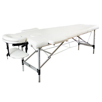£94.99 • Buy Massage Beauty Bed Portable Table Therapy Couch White Salon Adjustable Folding