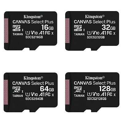 $12.95 • Buy Kingston Micro SD Card 16GB 32GB 64GB 128GB Class 10 Android Samsung Canon Nikon