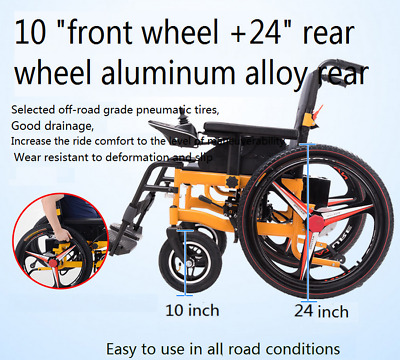 Electric Power Folding Wheelchair   Mobility Aid Motorized New Wide Seat1 • 666£