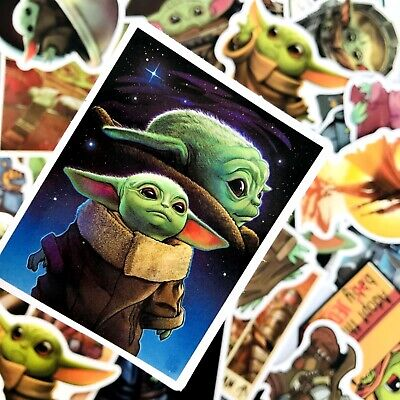 $7.17 • Buy Laptop Skateboard Stickers Baby Yoda PVC Decal For Home Decoration New 50 Pcs