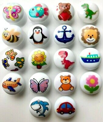 £1.39 • Buy Pack Of 6 Children's 15mm Shank-backed Buttons In 13 Bright Designs