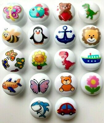 Set Of 6 Children's 15mm Shank-backed Buttons In 12 Bright Designs • 1.39£