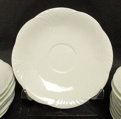 (2) Villeroy And Boch Arco Weiss Cream Soup Bowl Breakfast Saucers 7 1/8  • 9.98£