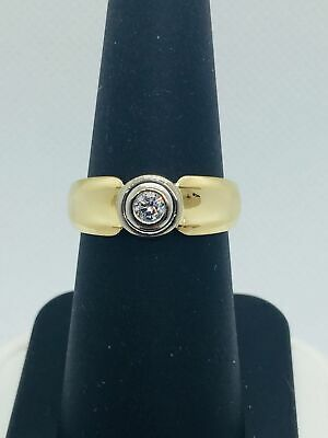 $1450 • Buy 18K Solid Gold Genuine Diamond Mens Wedding Band Ring | Pre-Owned Vintage