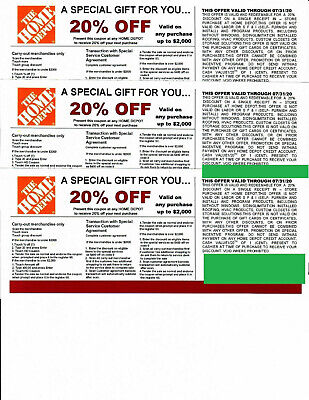$10 • Buy  ***(3)*** 20% OFF HOME DEPOT Coupon To Use At Lowe's Expires 07/31/20