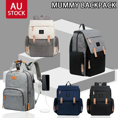 AU35.09 • Buy Multifunctional Waterproof Baby Diaper Nappy Backpack Mummy Changing Bag New