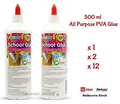 AU17.95 • Buy 500ml PVA Glue All Purpose For Slime Make Craft Non Toxic Washable Scrapbook