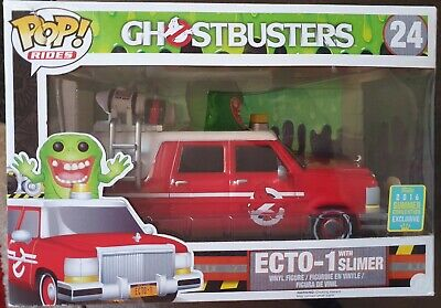 Funko Pop! Ecto-1 With Slimer Ride From Ghostbusters #24 2016 Comic Con • 30£