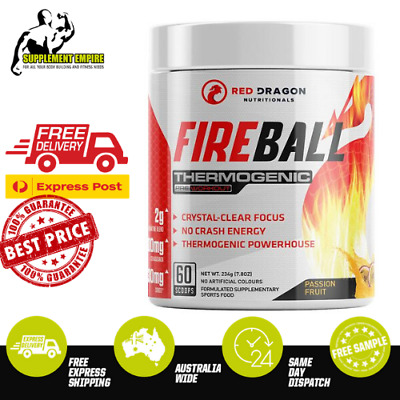 AU79.90 • Buy Red Dragon Fireball Thermogenic Fat Burner Fire Ball Weight Loss Oxyshred