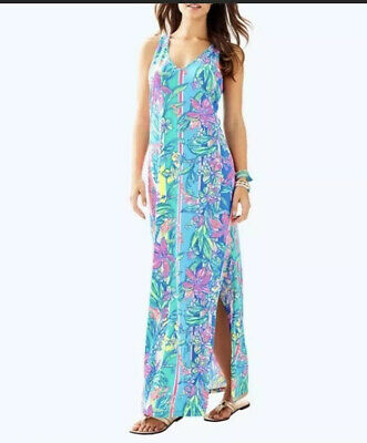 $50 • Buy Lilly Pulitzer Kerri Maxi Dress Size Small 100% Pima Cotton