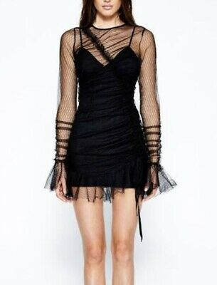 AU79 • Buy Alice Mccall Baby Baby Black Lace Mini Dress Size 6 RRP450