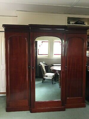 AU950 • Buy Magnificent Antique Victorian Combination Wardrobe W Chest Of Drawers