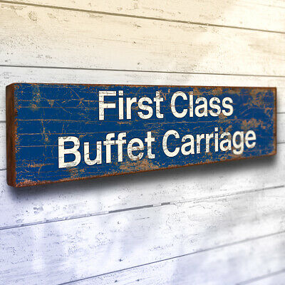 £15.75 • Buy First Class Buffet Carriage Sign 40cm Railway Plaque Train Station