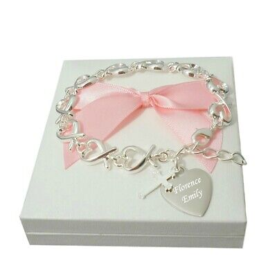 First Holy Communion Bracelets For Girls. Any Engraving. Personalised Gifts • 19.99£