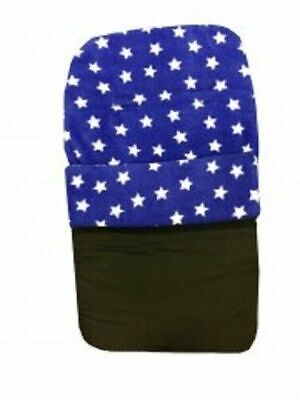 £9.77 • Buy Footmuff Royal Blue With White Stars Universal Cosytoes New