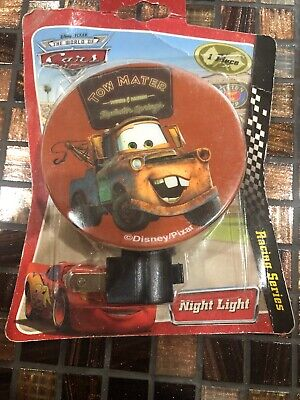 Night Light Plug-in With Adjustable Shade Disney Cars McQueen Mater Hudson New • 22.47£