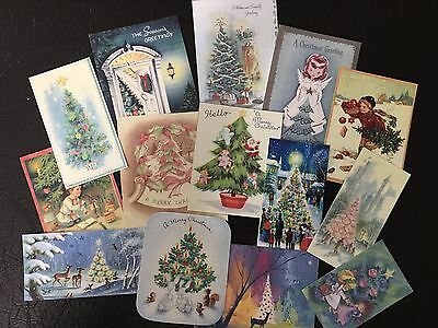 $4.99 • Buy BB58 Lot Of 14 Vintage Christmas Tree DIE CUTS 4 CARD MAKING Free Shipping