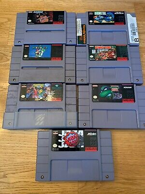 $ CDN29.58 • Buy Super Nintendo SNES Lot Of 7 Game: Mario World, DK Country, Battletoads, TMNT