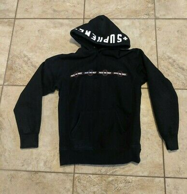 $ CDN204.26 • Buy Mens Supreme Independent Trucks F*ck The Rest Black Hoodie Size Small Box Logo