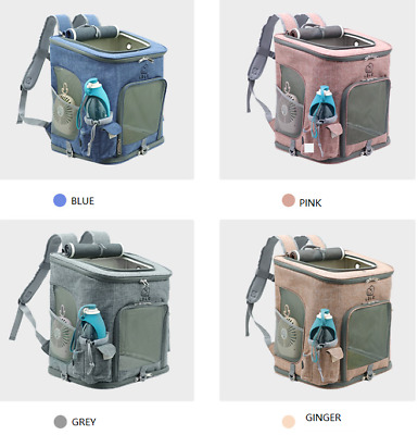 £26.39 • Buy Pet Dog Cats Carrier Backpack Bag With Mesh For Medium Large Dogs Cats, Puppy