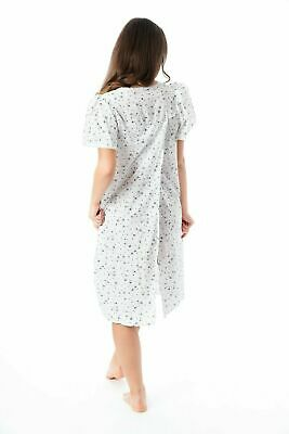 £15.95 • Buy Ladies Incontinence Open Back Floral Hospital Nightdresses Nightie By Lady Olga