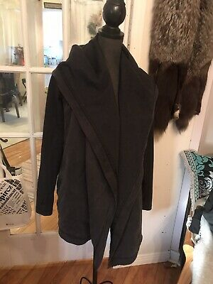$ CDN150 • Buy Lululemon Lot Size 8 Open Wrap Hooded Cardigan With Tote Shopping Bag