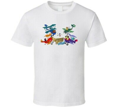 Vintage Retro Shirt Classic Cartoon Dastardly & Muttley In Their Flying Machine • 15.80£