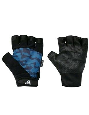 £9.50 • Buy Adidas Performance Gloves XXL Blue Camoflauge Fitness  Training  Weigh Lifting