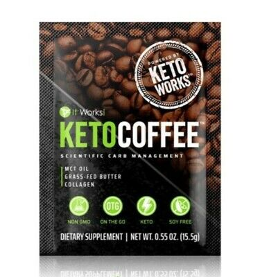 $40 • Buy It Works! Keto Coffee BRAND NEW & Sealed Bag Incl.15 Packets Carb Management