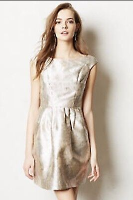 $ CDN29 • Buy Anthropologie Silver Skater Dress Size S Small Made In San Francisco