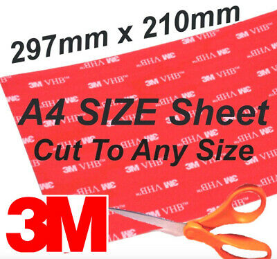 3M Pads Strong Double Sided Tape Sticky Pads Mounting Self Adhesive Pads Sheet • 4.99£