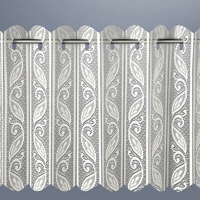 £9.95 • Buy Curtain Net Louvre Pleated Vertical Lace Net Curtain | Shaws Direct