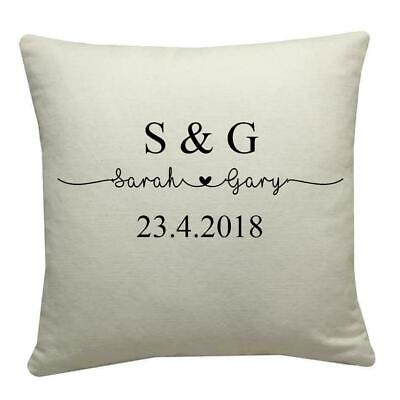 £7.99 • Buy Personalised Couple Initial Cushion, Valentines Gift, Love Present, Anniversary