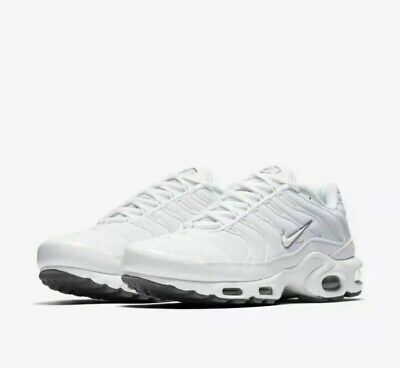 $0.01 • Buy Nike Air Max Plus TN Tuned 1 Triple White Cool Grey (604133-139) Men's Size 14
