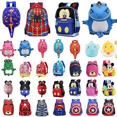 Child Kids Boy Girl Cartoon Backpack Toddler Anti-Lost Reins School Bag Rucksack • 11.58£