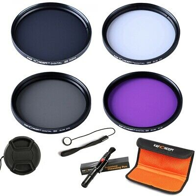 K&F Concept 52mm UV CPL FLD ND4 Filter Kit + Cleaning Pen For Canon Nikon Sony • 19.99£