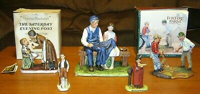 $ CDN25.11 • Buy Norman Rockwell Figurine Lot ( 5 Different) 1975 -- 1996